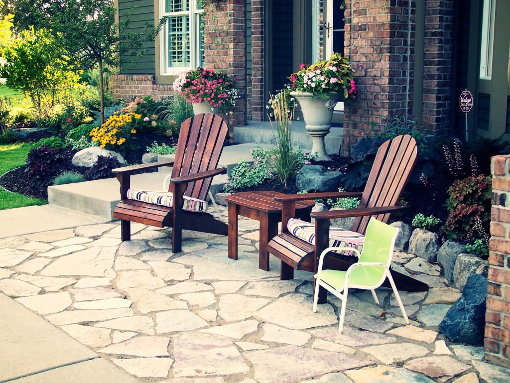 front yard patio ideas small front yard flagstone patio sitting area flagstone patio sitting entry eden - Front Yard Patio Ideas