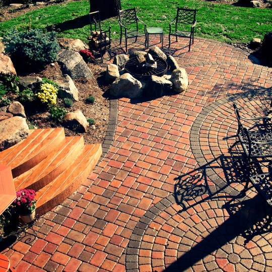 paver brick-paver patio-boulders-steps-shorewood-mn